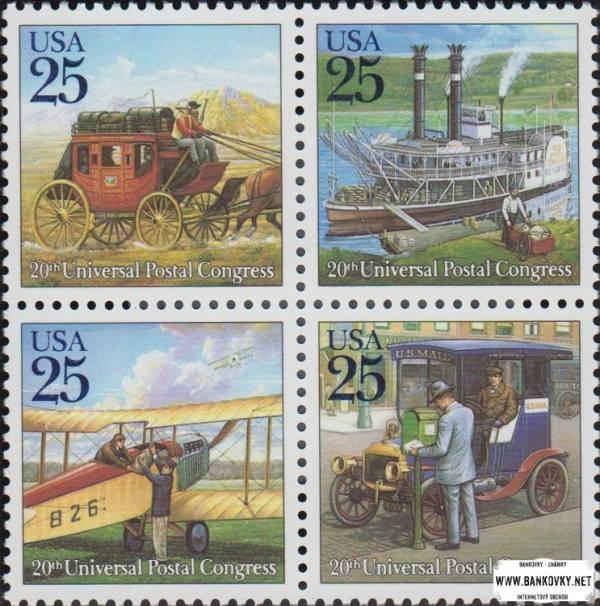Známky USA 1989 Poštová preprava - Kongres UPU