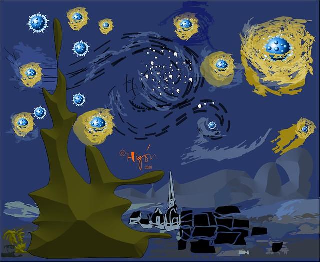 Noche estrellada (de coronavirus)