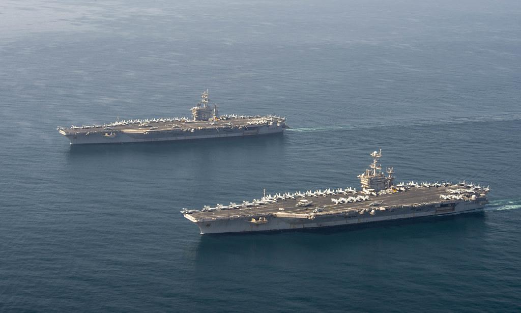 USS Dwight D. Eisenhower and USS Harry S. Truman transit t…   Flickr