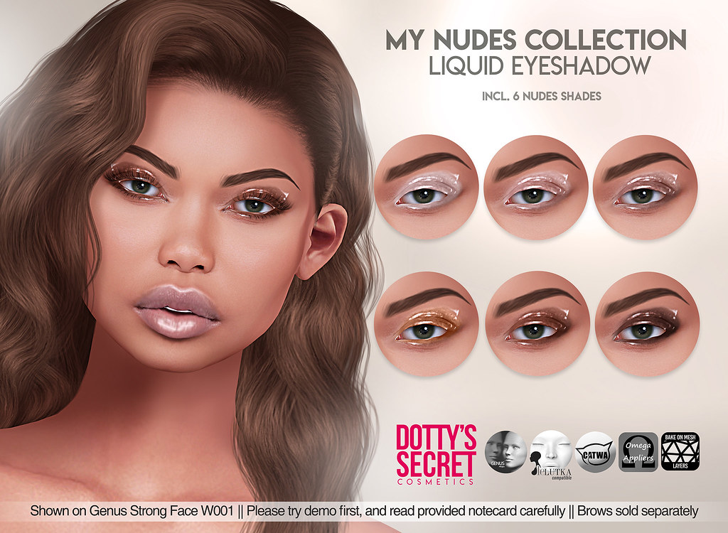 Dotty's Secret – My Nudes Collection – Liquid Eyeshadow – SKIN FAIR Exclusive