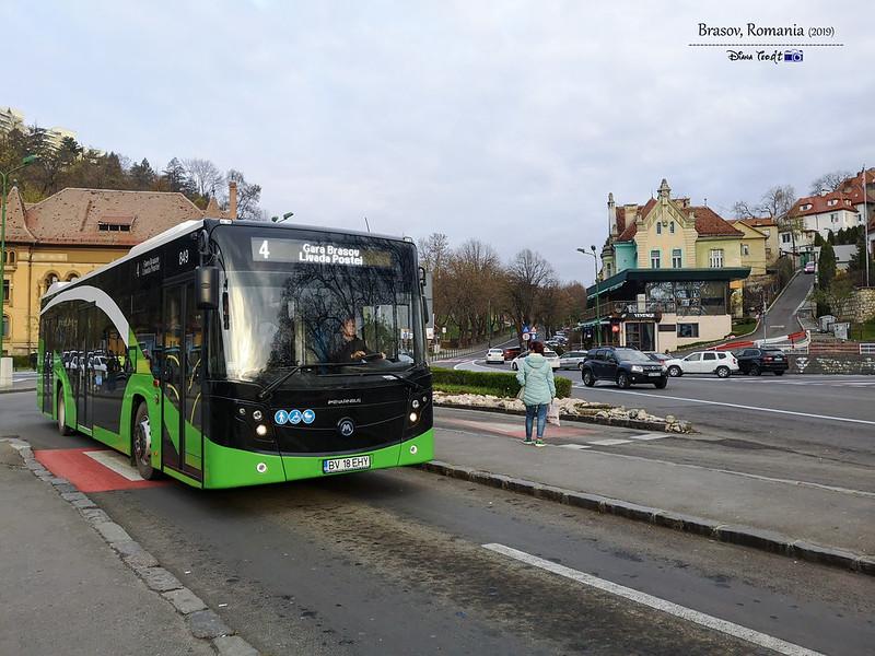 2019 Romania Brasov Bus Line 4 Centre (Livada Postei)
