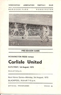 Workington Reds V Carlisle United 1-8-1970 | by cumbriangroundhopper