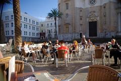 Cadiz cathedral cafe