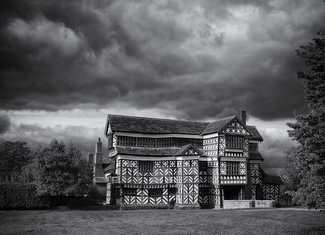 Little Moreton Hall under stormy skies
