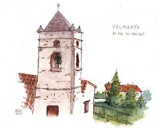 Au village de Valmanya, Vallée du Boulès,  sur la colline qui surplombe le village.