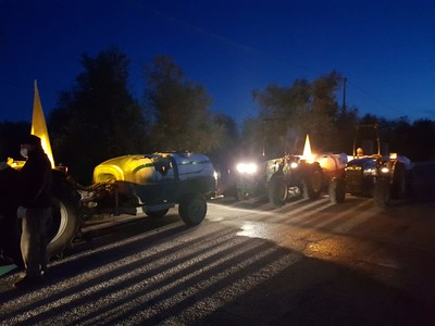sanificazione strade in campo trattori coldiretti