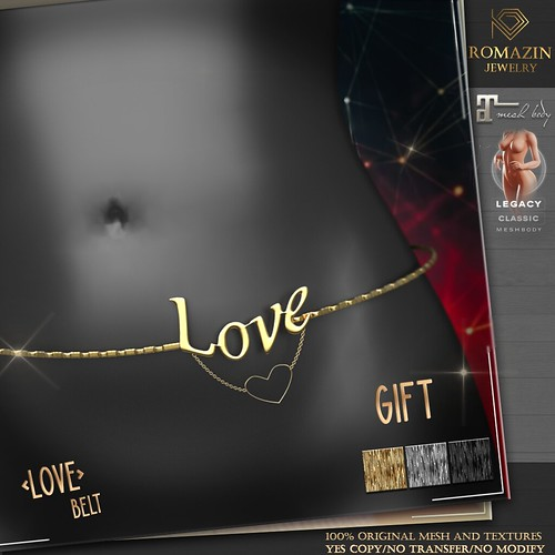 Romazin - Belt <Love> - GIFT GROUP