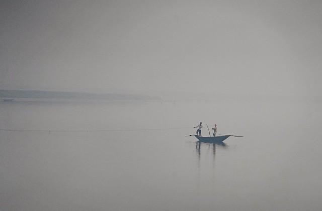 Fishermen Hugli (Ganges) River India