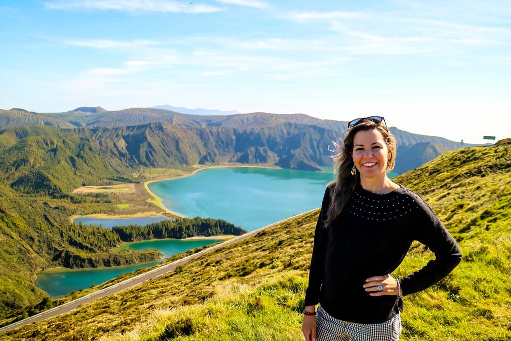 Mirador del Lago de Fuego en Sao Miguel