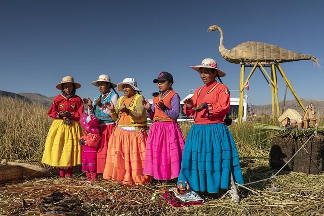 Isla Flamenco. Lago Titicaca. Perú.