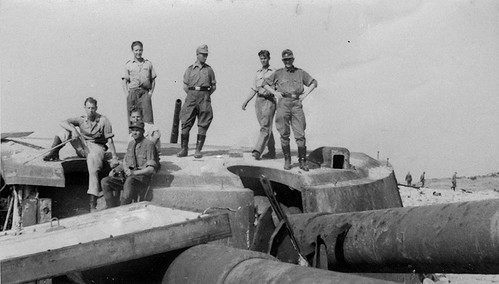 German soldiers on the roof of the destroyed Turret No 2  of the 30th coastal battery of Fort Maxim Gorky in Sevastopol  June 1942.