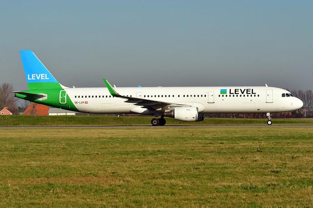 OE-LCP A321-211 cn 6629 Level Austria 200207 Schiphol 1002