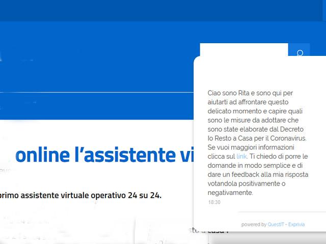 """assistente virtuale """"Rita"""""""