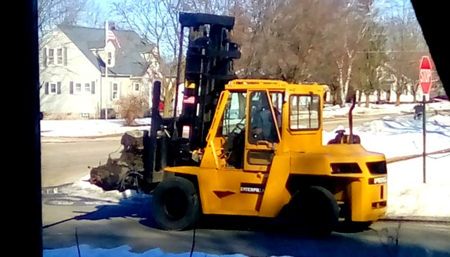 City snow removal vehicle! Menominee Michigan