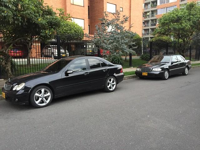199 Blauschwarz Pearl Metallic 1995 Mercedes-Benz C280 Elegance W202  197U Obsidian Black 2006 Mercedes-Benz C180 Kompressor Sport W203