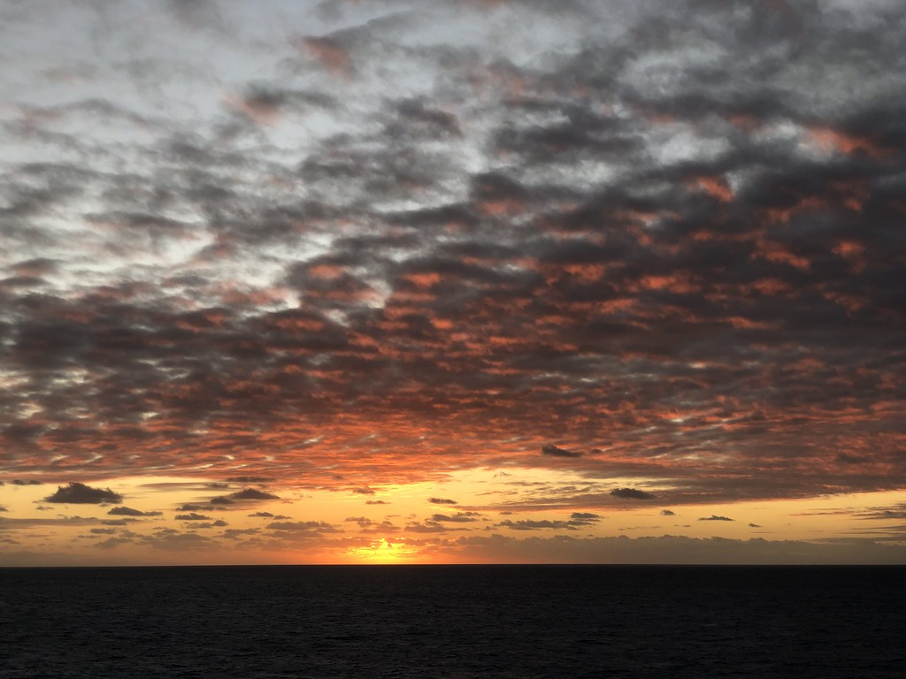 Another day, another tropical sunrise at sea!