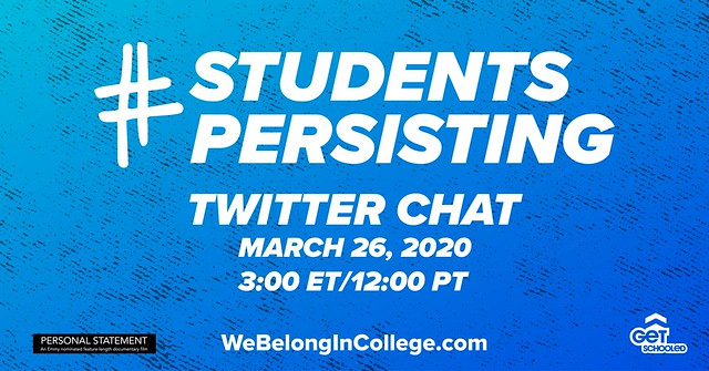 #StudentsPersisting Twitter Chat