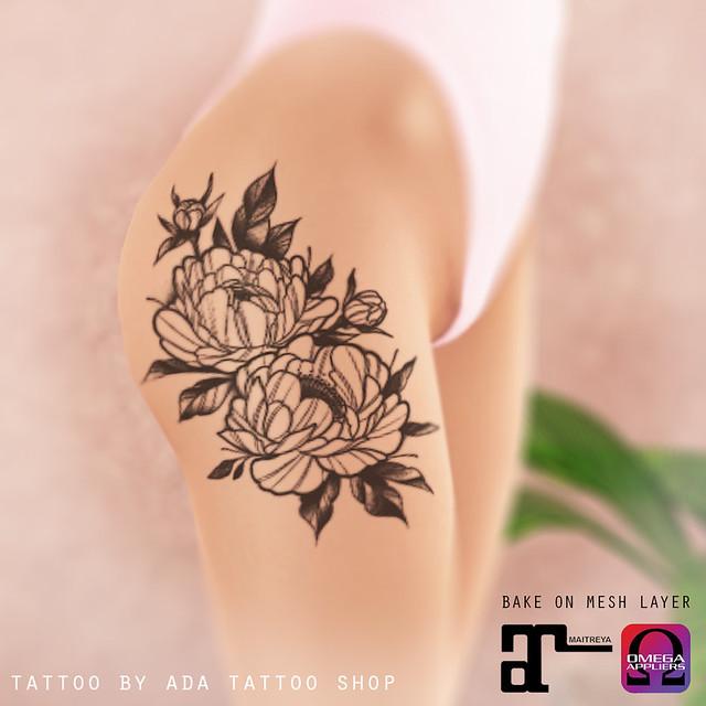 ADA Tattoo Shop chips PEONIES TATTOO (BoM, OMEGA, MAITREYA)