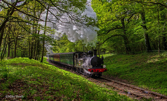 'Calbourne' as 'Bembridge' - Isle of Wight Steam Railway - 9 May 2015
