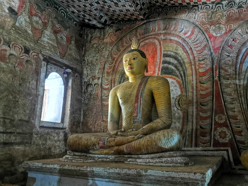 Inside the Dambulla Cave Temple, Sri Lanka