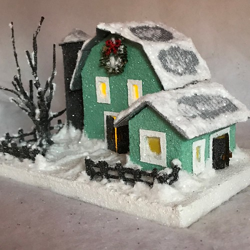 ORIGINAL Light green and grey Putz Barn | by christmasnotebook