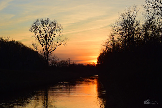 Będzin - setting sun
