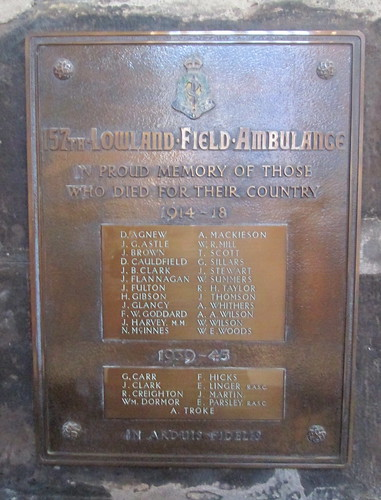 Lowland Field Ambulance Memorial, Glasgow Cathedral 3