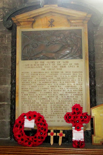 Great War Memorial, to Glasgow Cathedral Congregation
