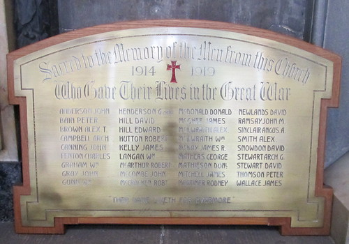 A Great War Memorial, Glasgow Cathedral