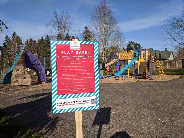 Play Safe Coronavirus Playground Sign