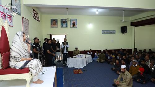 Satguru Mata Ji blessing the devotees