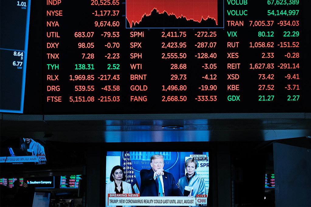 新冠病毒重創美國經濟,川普提出7千億的經濟振興方案。(圖片來源:Getty Images)