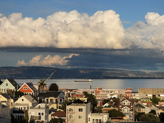 Afternoon Cumulus Clouds sit on San Francisco Bay 02