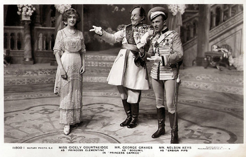 Cicely Courtneidge, George Graves and Nelson Keyes in Princess Caprice (1912)