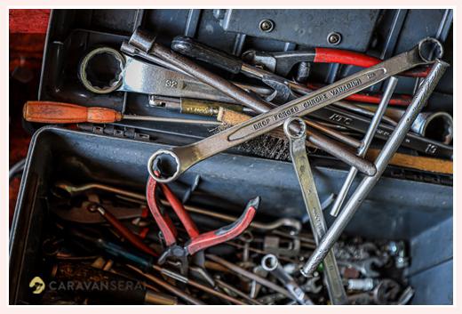 プロが使う道具箱 自転車屋