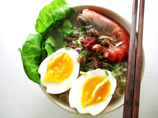 Japanese instant ramen, cooked 2