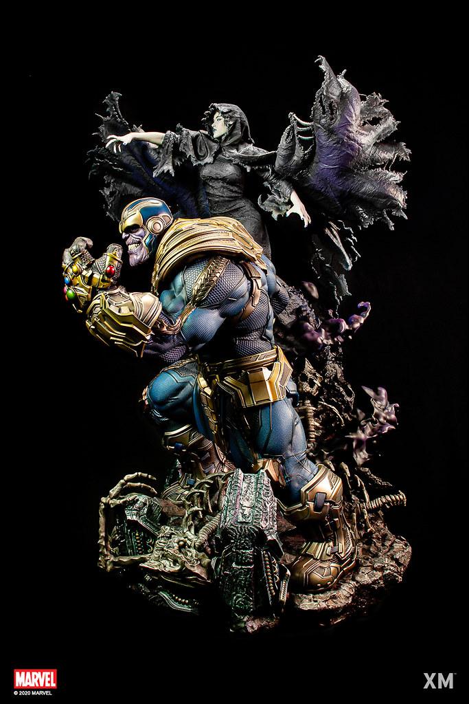 XM Studios Premium Collectibles 系列 Marvel【薩諾斯與死亡女神】Thanos with Lady Death 1/4 比例全身雕像