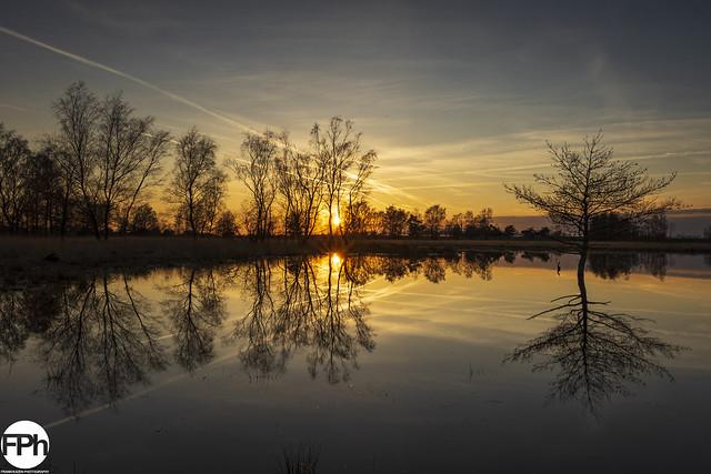 Sunset at Boshoverheide