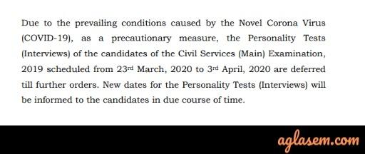 Government Job Exams Postponed Due To Coronavirus (COVID-19) [LIVE]