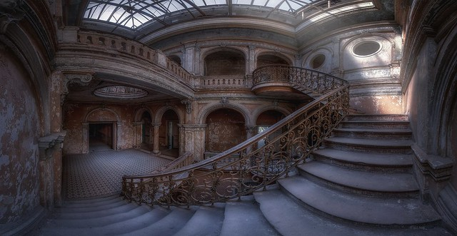 rotten castle stairs - where princesses lived