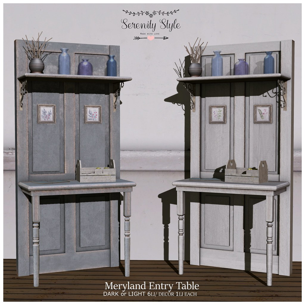 Serenity Style-Meryland Entry Table ad