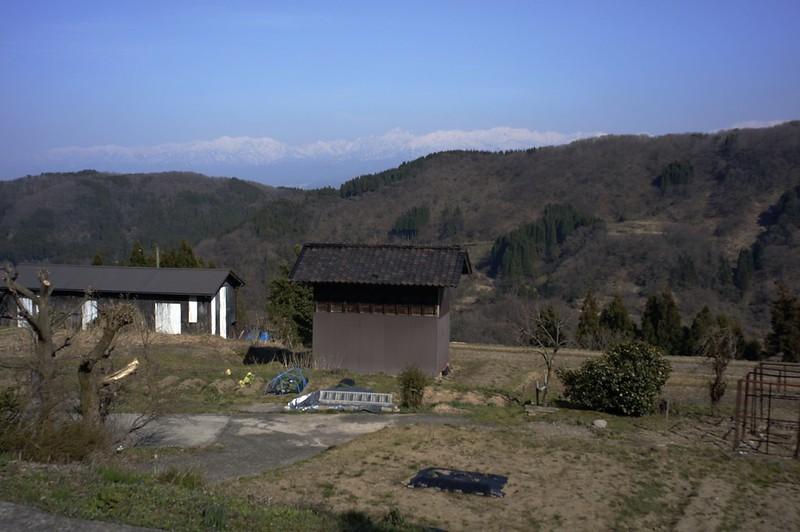 山田村からの北アルプス
