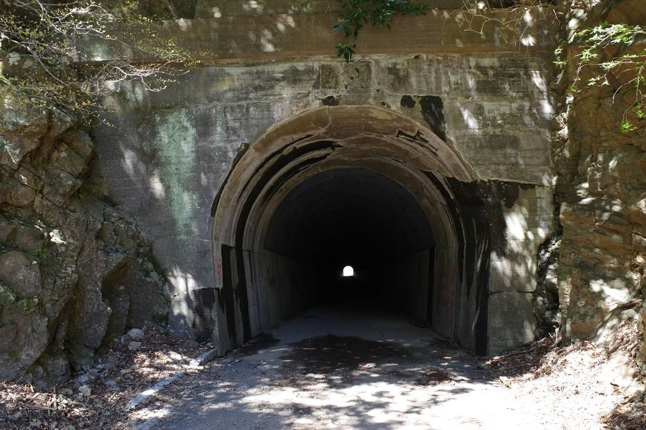不動尻のトンネル入り口