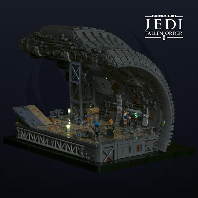 LEGO Jedi Fallen Order Shipbreaking yard on Bracca