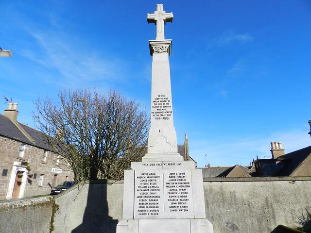 Johnshaven War Memorial, Johnshaven, Feb 2020