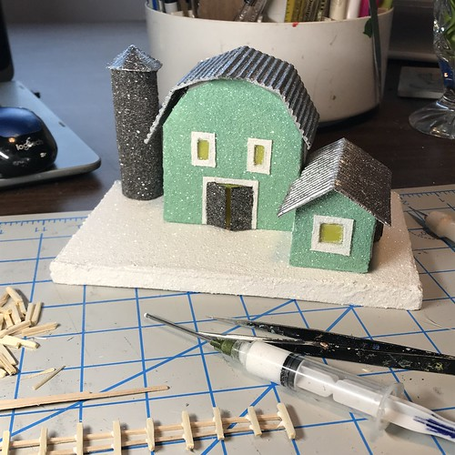 green putz barn in progress