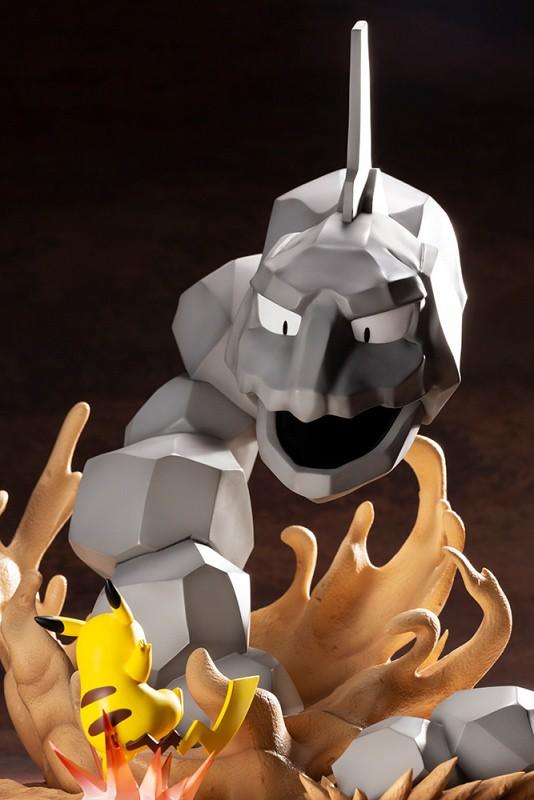 屬性不利的背水戰! ARTFX J《精靈寶可夢》大岩蛇 VS. 皮卡丘(イワーク VS. ピカチュウ)1/8比例模型