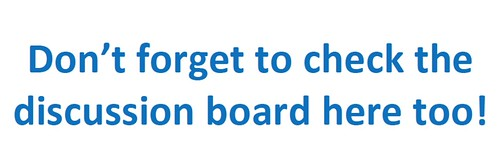 Don't forget to check the discussion board in the group too!