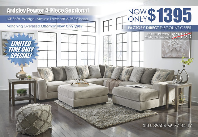 Ardsley Pewter 4-PC Sectional_Clearance_39504-66-77-34-17-08-T387