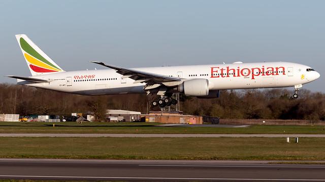 Ethiopian Airlines ET-APY 777-36NER EGCC 20.03.2020
